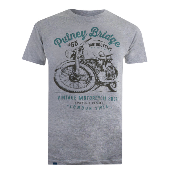 Motorcycle Shop T-shirt - Grey Marl