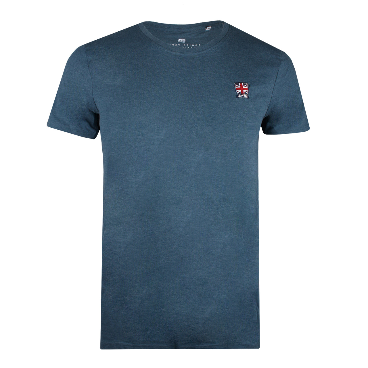 Union Badge T-shirt - Blue Steel Marl