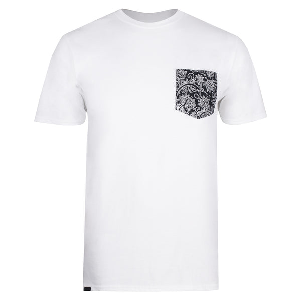 Vintage Floral Pocket T-shirt - White