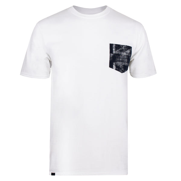 Union Flag Pocket T-shirt - White