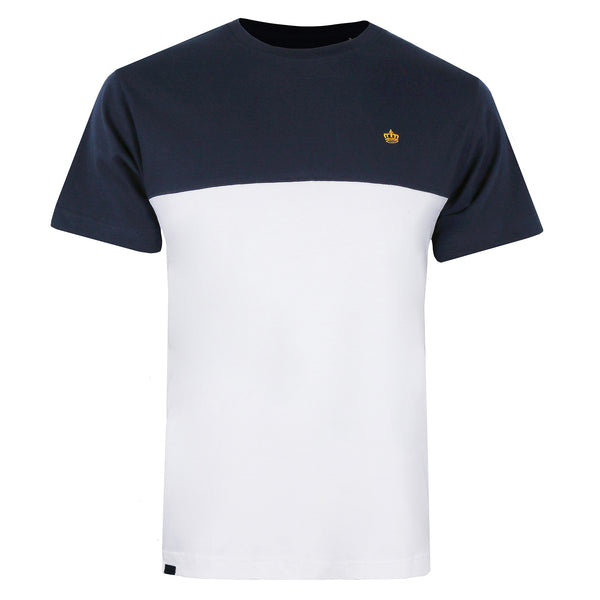 Crown Panel T-Shirt - Navy/ White