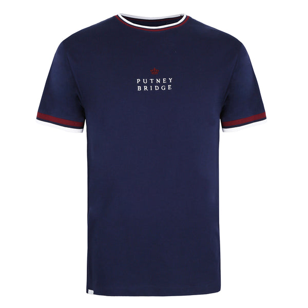 Crown Tipped T-Shirt - Navy
