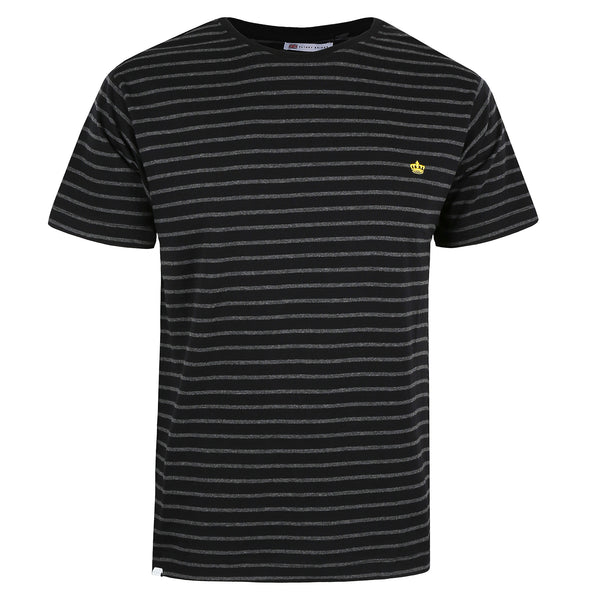 Crown Stripe T-Shirt - Black/ Charcoal