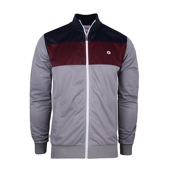 Chester Track Top - Mid Grey