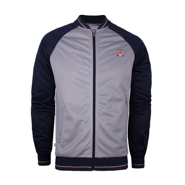 Torwood Track Top - Mid Grey/ Navy