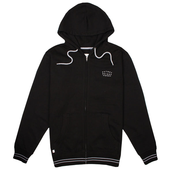 Richmond Zip Hood - Black