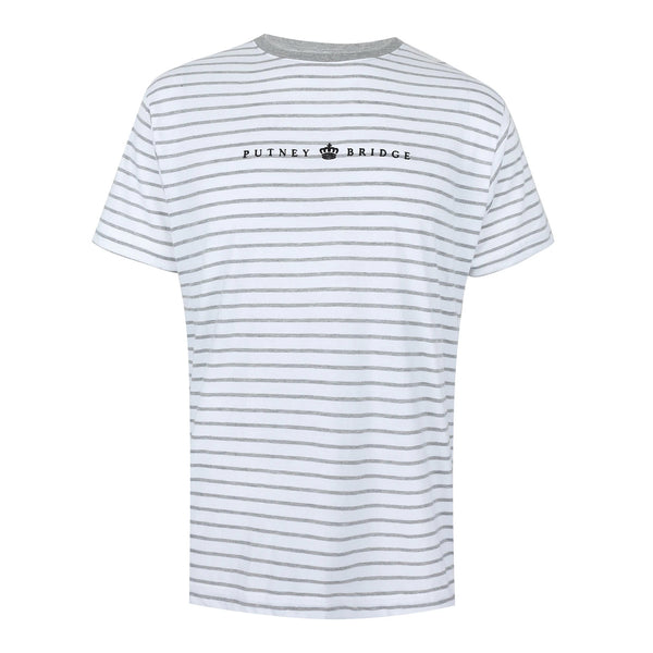 Kingston Striped T-Shirt - White/Grey