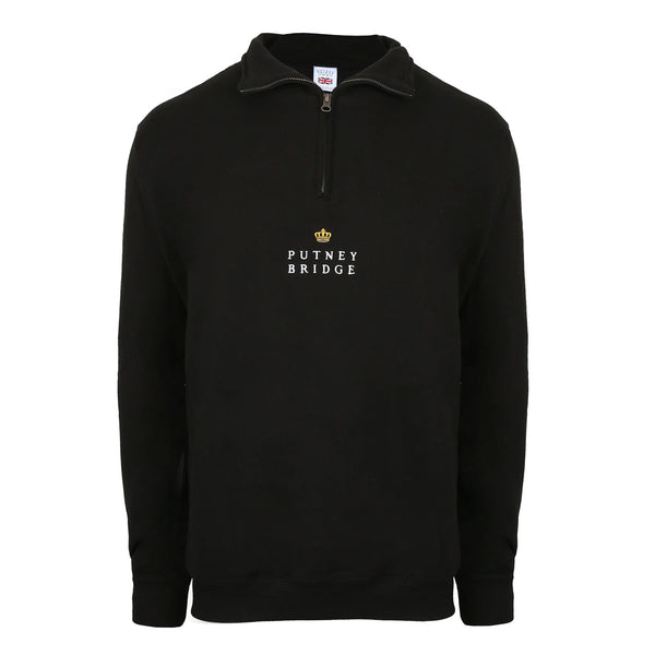 Portland Quarter Zip Sweatshirt - Black