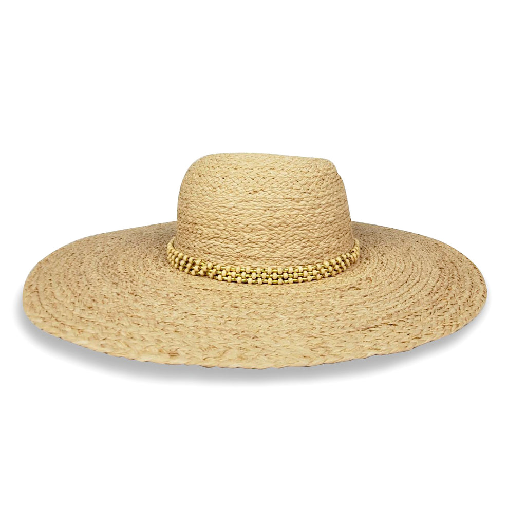 Avalon Sunhat- Gold Beads