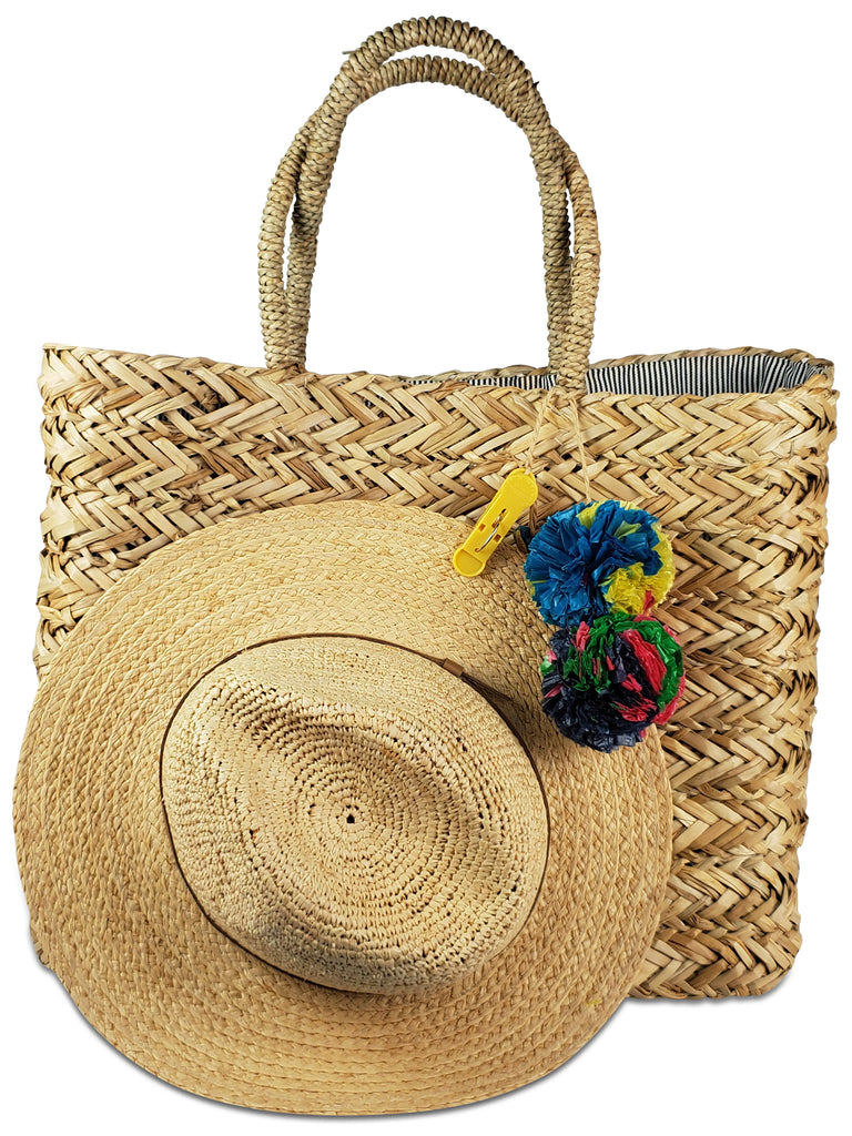 Take Your Hat with You Beach Tote