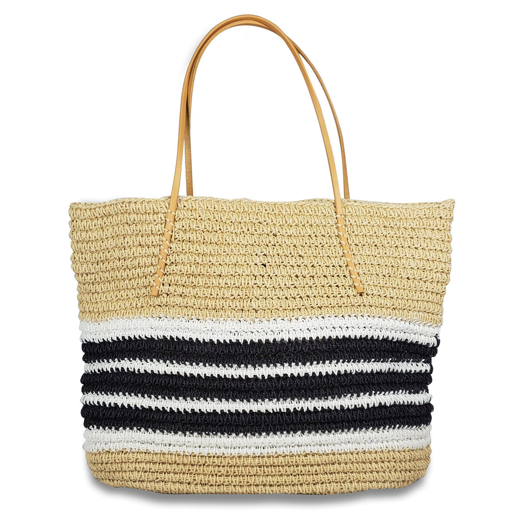 Packable Trio Stripe Tote