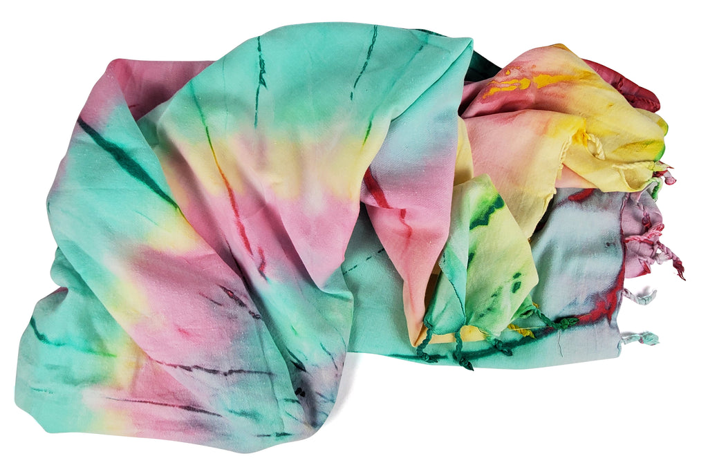 Tie Dye Beach Throw