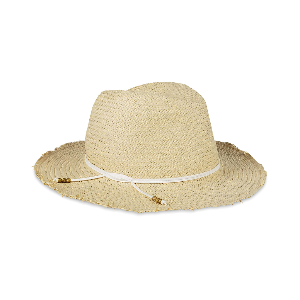 Fringe Packable Travel Hat- Natural