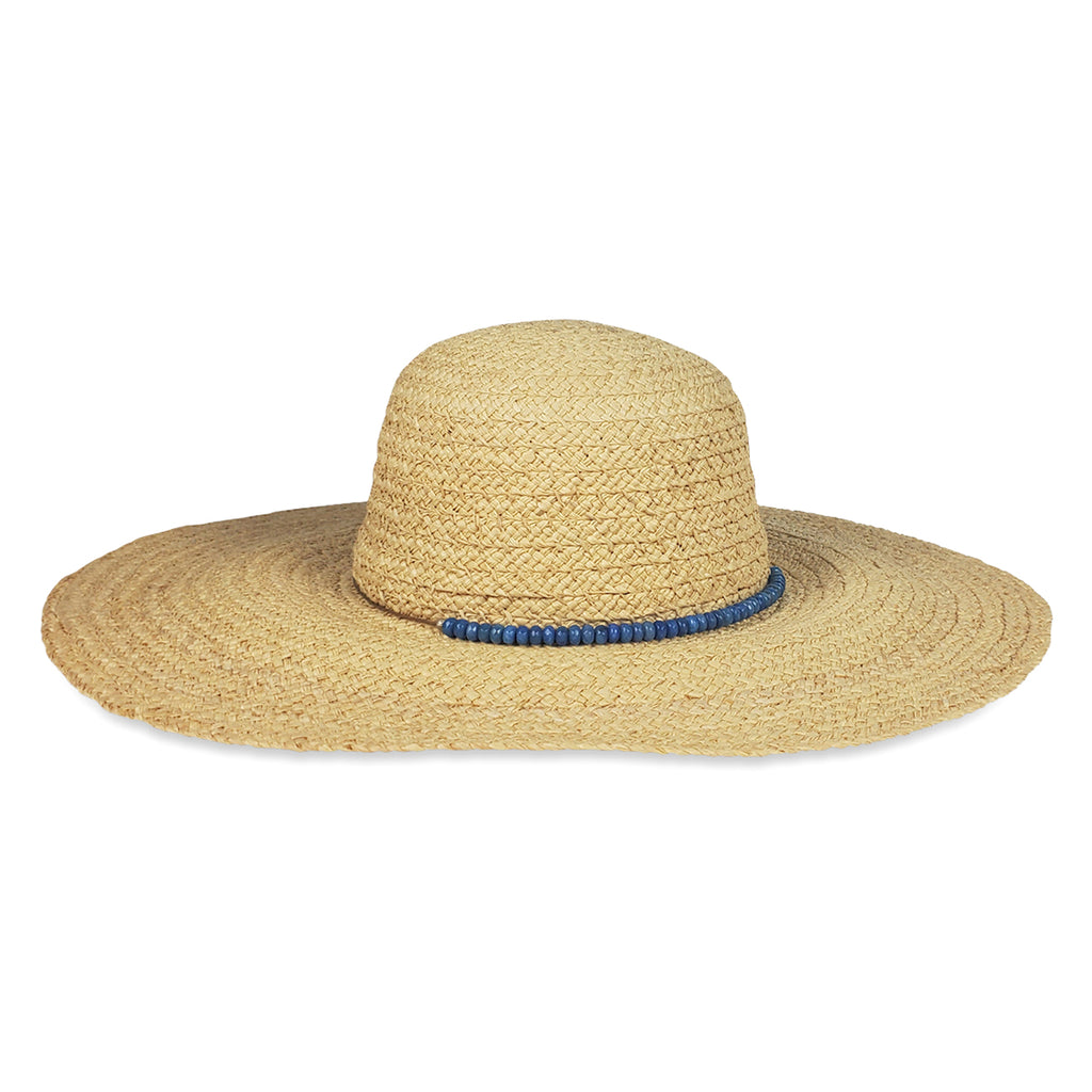 Avalon Sunhat- Blue Beads