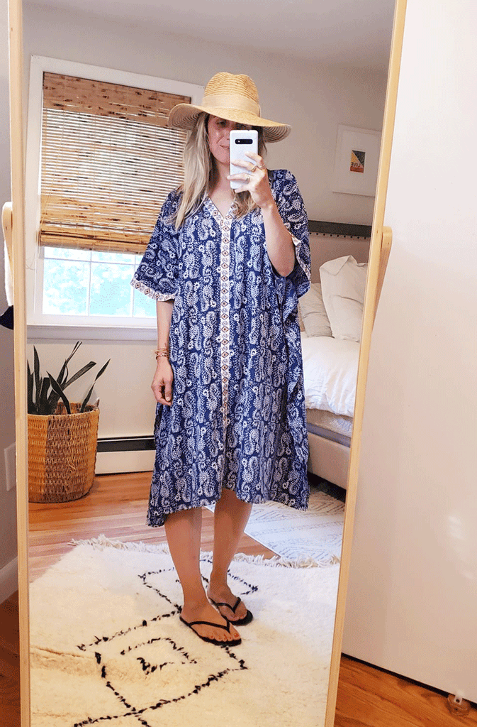Printed Kaftan Coverup