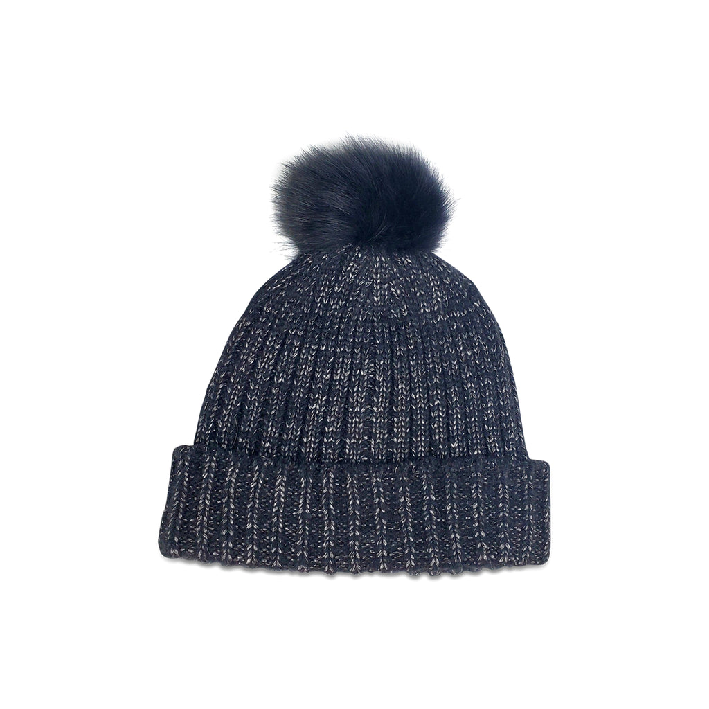 Vail Beanie with Real Fur Pom