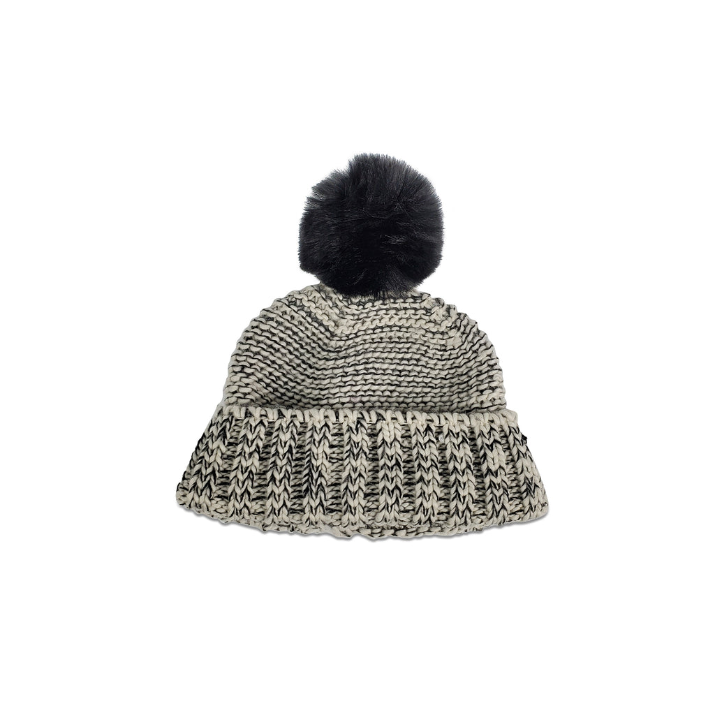 Frosty Pom Hat with Faux Fur Pom