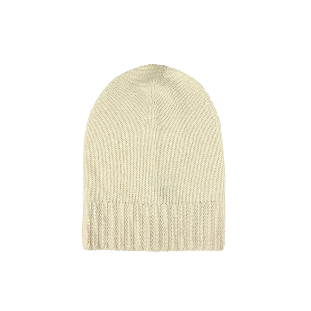 Cashmere Slouchy Cuff Hat- Tobacco