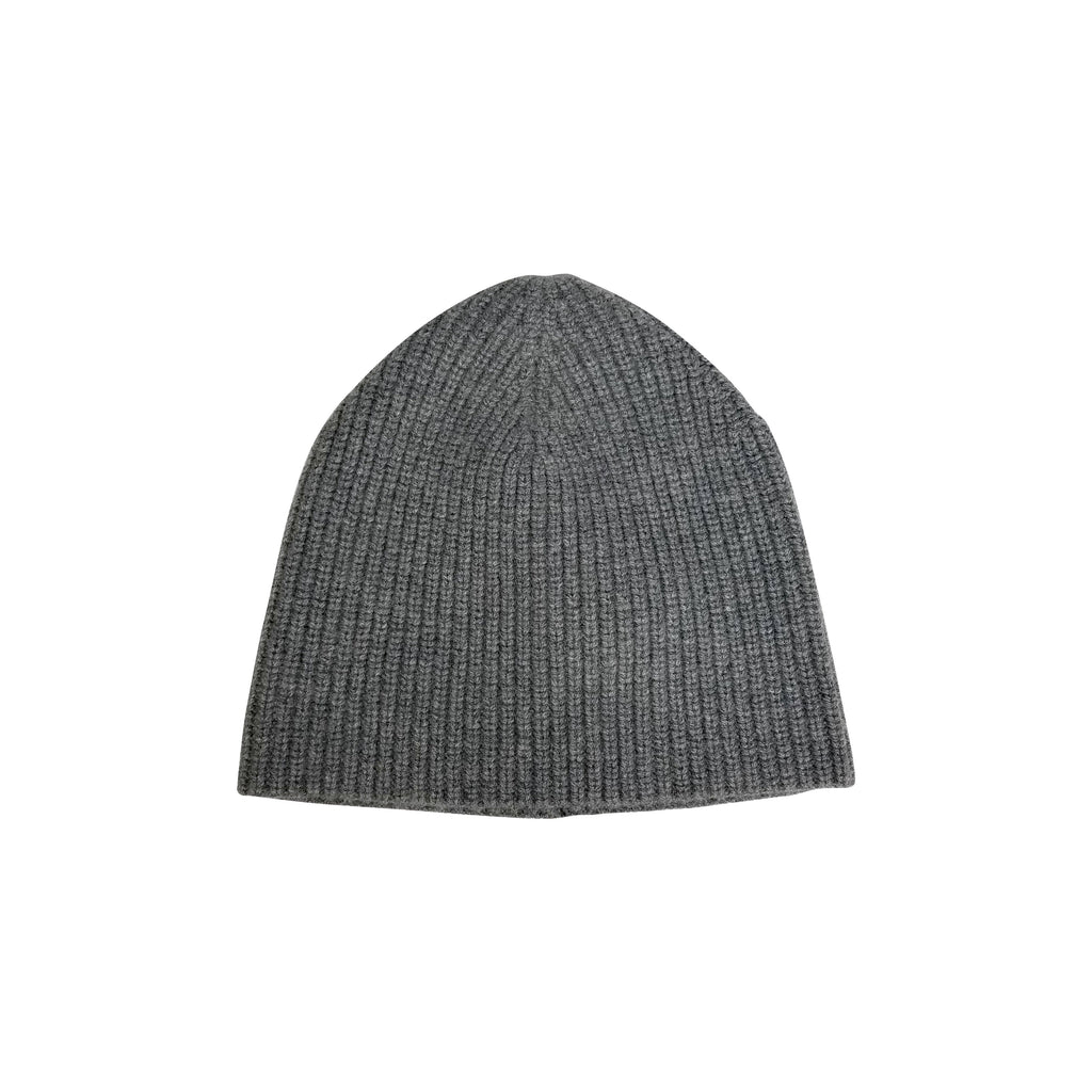Cashmere Chunky Beanie- Charcoal