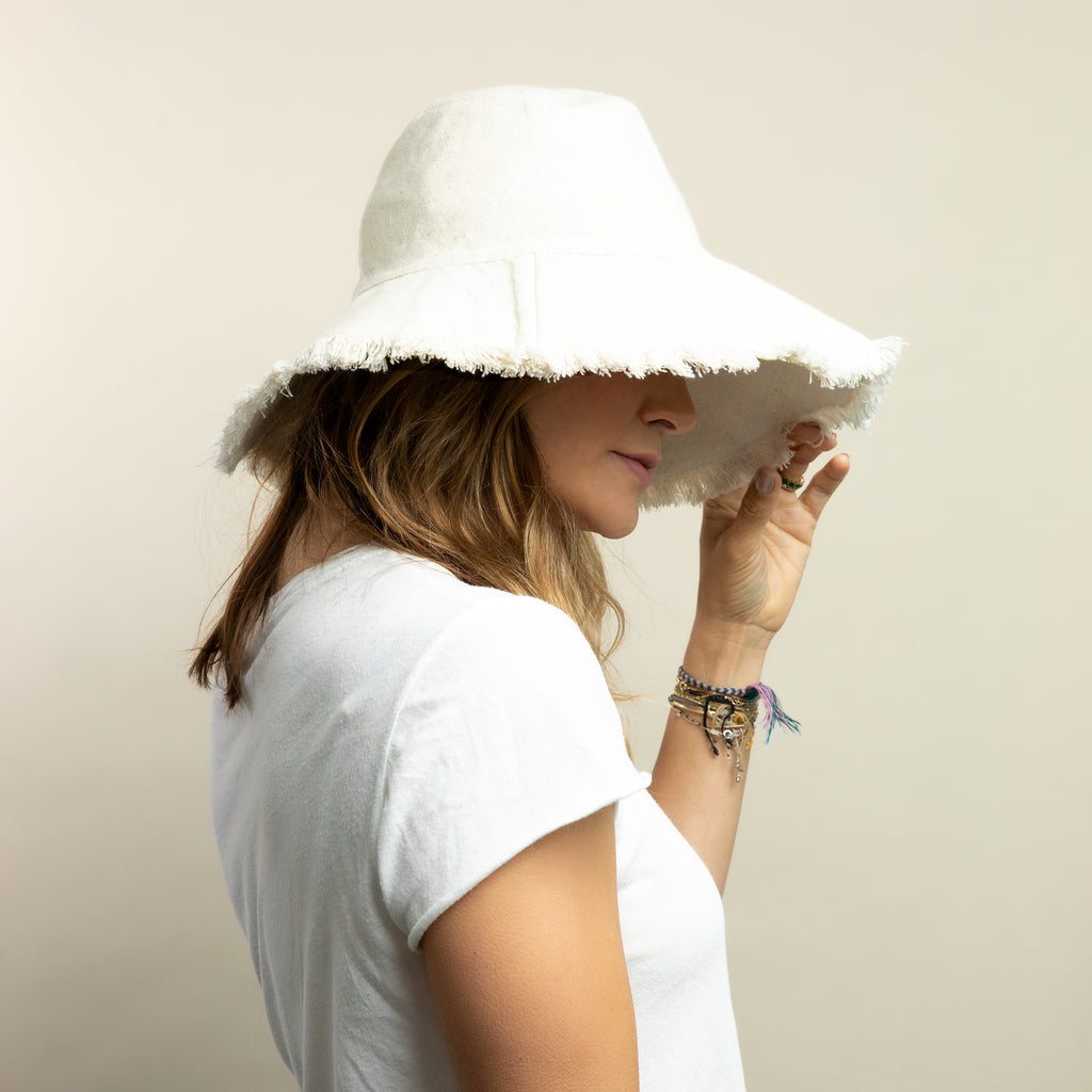 Canvas Packable Hat- Natural
