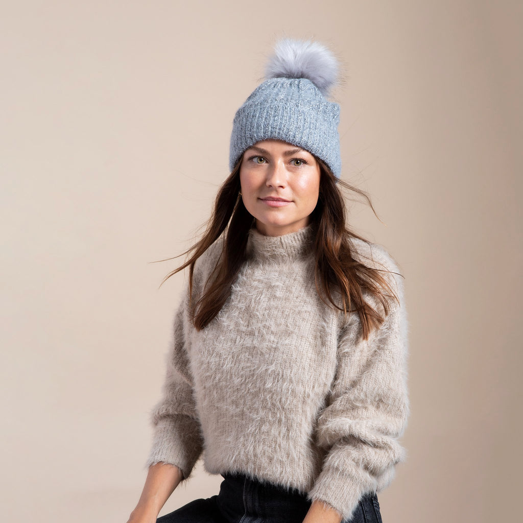 Classic Cable Pom Hat