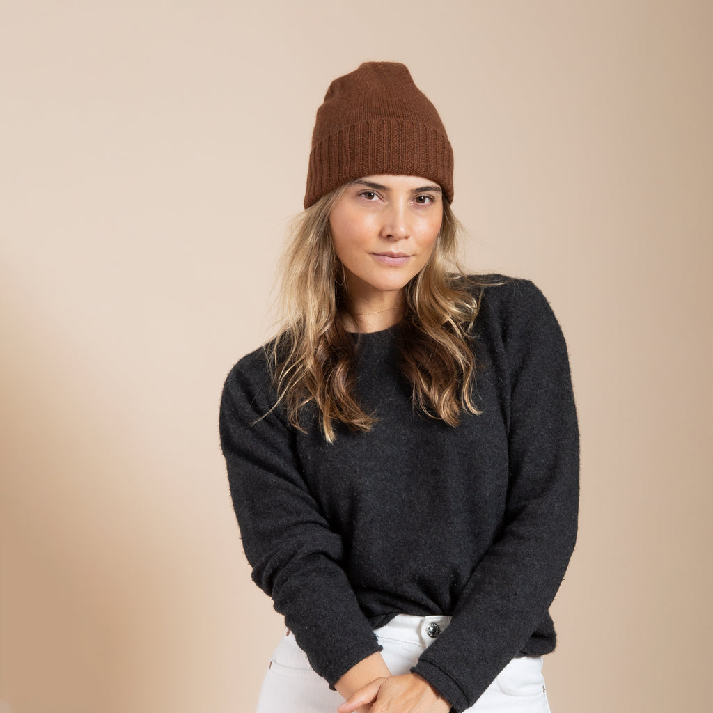 Cashmere Slouchy Cuff Hat(more colors available)