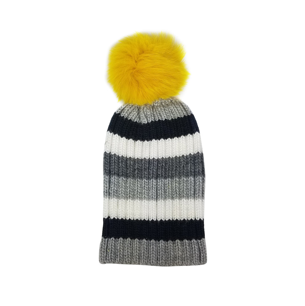 Telluride Beanie with Real Fur Pom