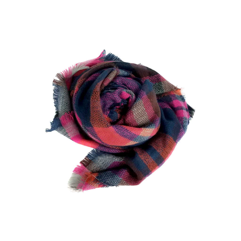 Jewel Plaid Scarf