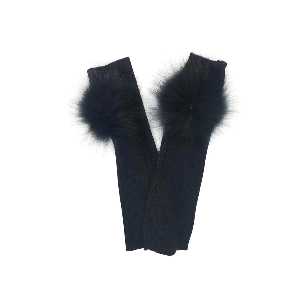 Cashmere Armwarmer with Fur