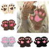 Soft Kitty Paw Paw Half Finger Gloves