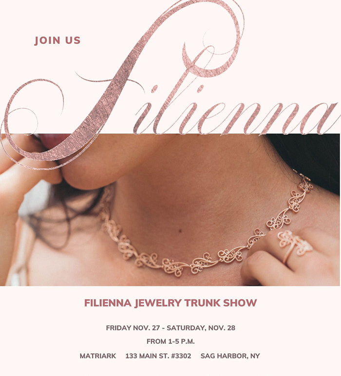 Filienna filigree jewelry Hamptons holiday trunk show