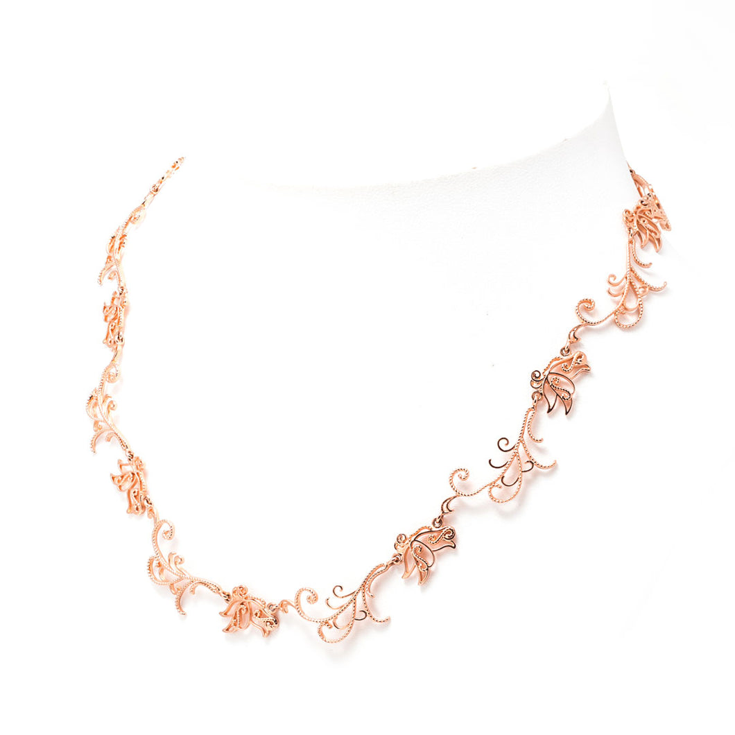 Baby B, Butterfly Necklace 16 inches rose gold-tone