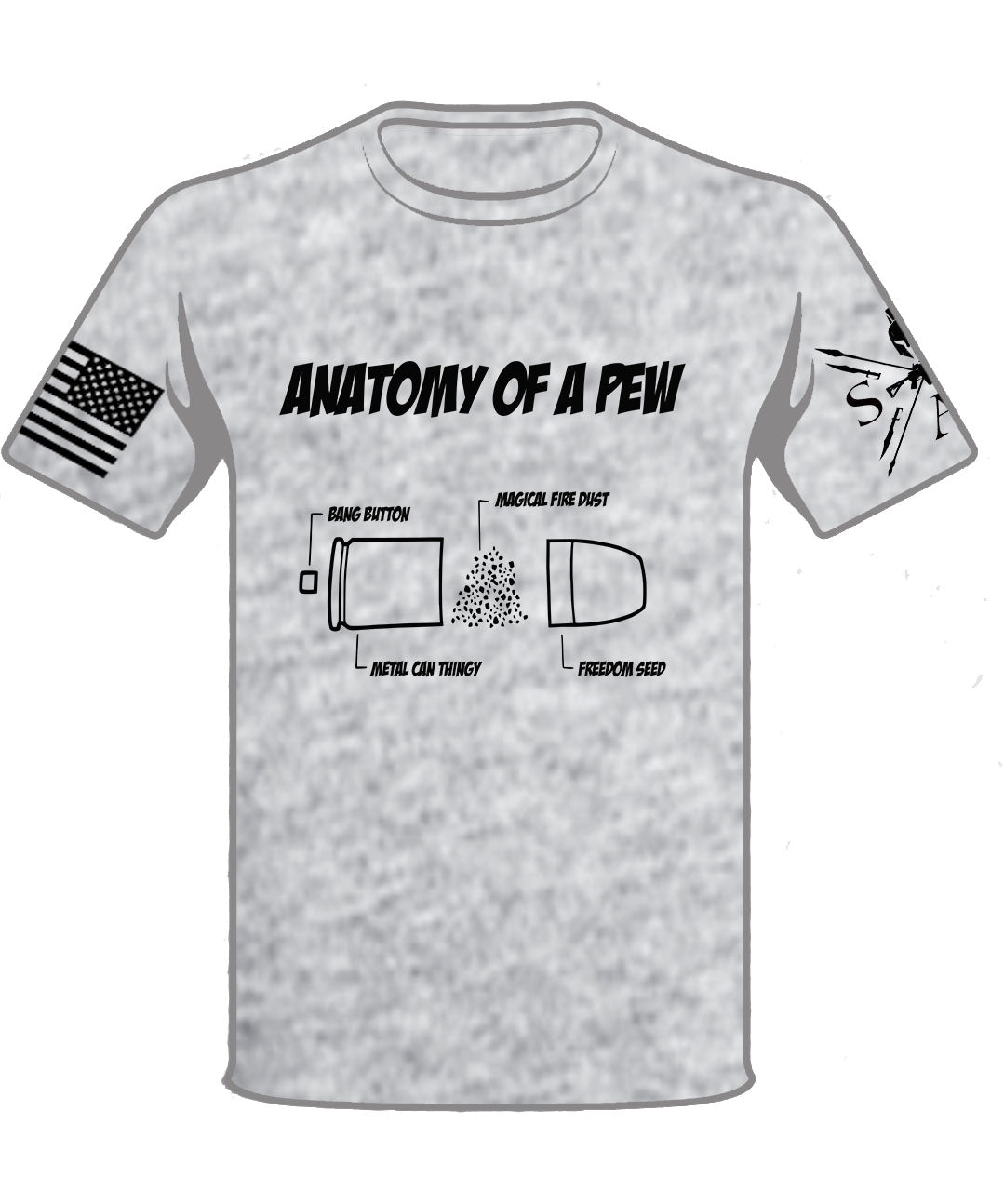 Anatomy of a Pew T-Shirt – Savage AF Clothing