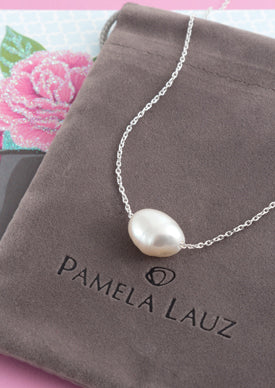 Element White Pearl Silver Necklace