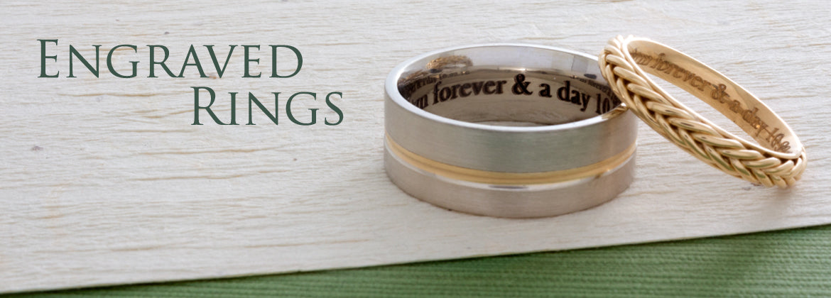 Custom Engraved Rings - Pamela Lauz