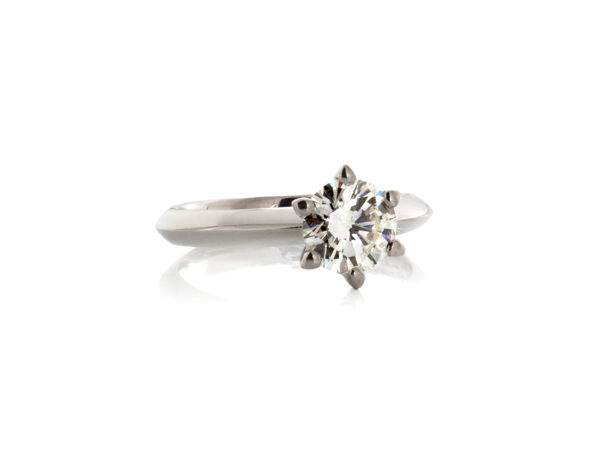 Classic Diamond Solitaire Platinum Engagement Ring