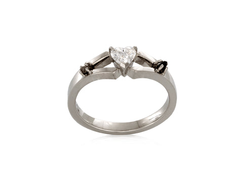 Marquise Vintage Engagement Ring and Wedding Band