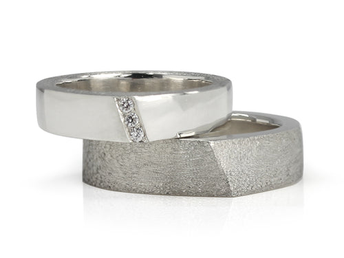 Pamela Lauz Jewellery - Edge Wedding Bands