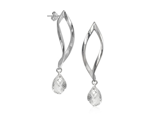 Pamela Lauz Jewellery - Foliage Rock Crystal Drop Earrings