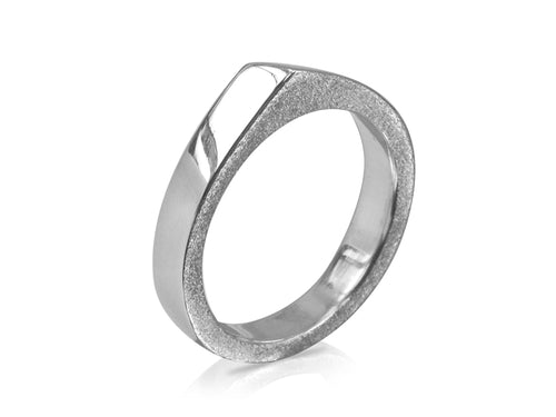 Pamela Lauz Jewellery - Edge Slim Ring High Polish