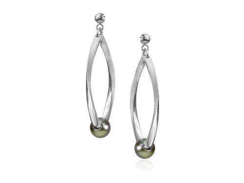 Pamela Lauz Jewellery - Candela Pistacchio Pearl Drop Earrings