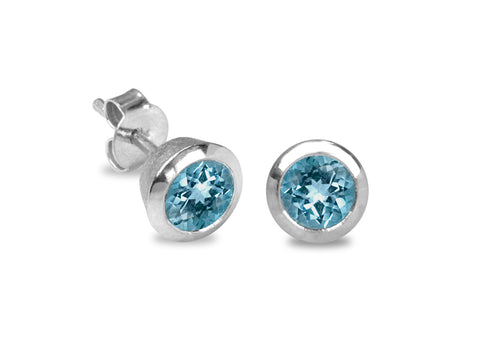 Confetti Swiss Blue Topaz Earrings