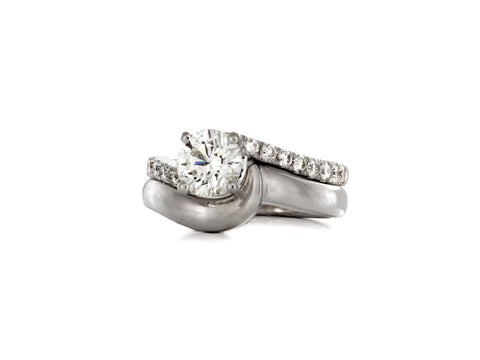 Surface Diamond Baguette Ring