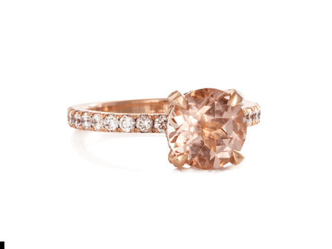 Dolci Pink Saphire And Diamond Ring
