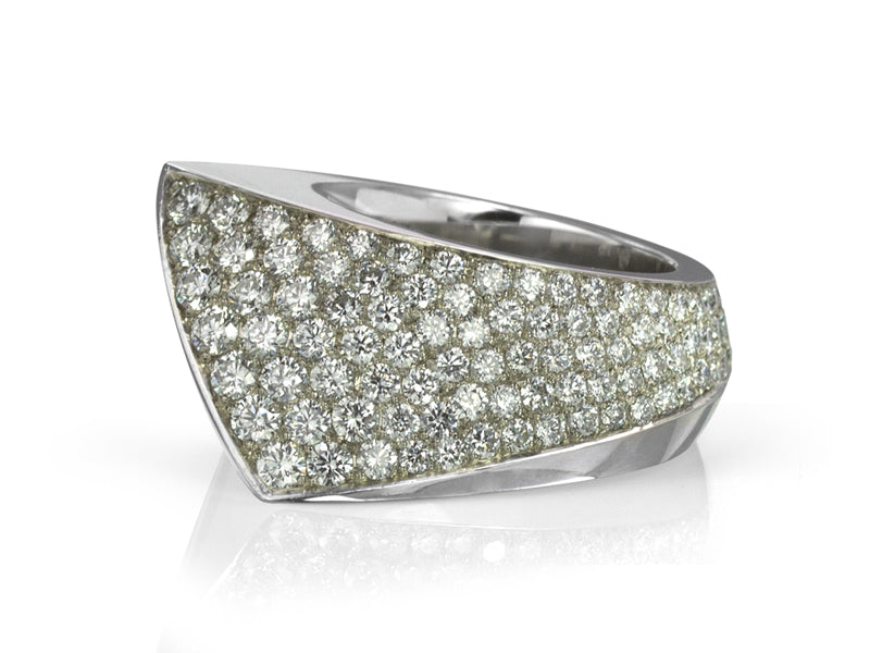 Pamela Lauz Jewellery - Solstice Cocktail Ring With Pave Diamonds