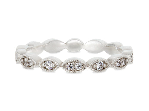 Pamela Lauz Jewellery - Marquise Vintage Wedding Rings