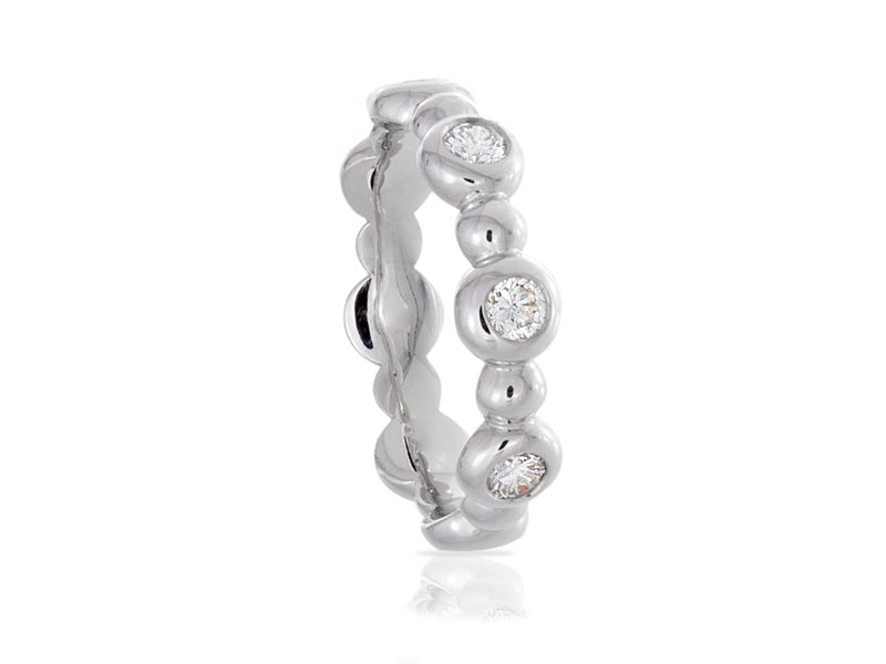 Pamela Lauz Jewellery - Bubble Diamond Bezel Bands