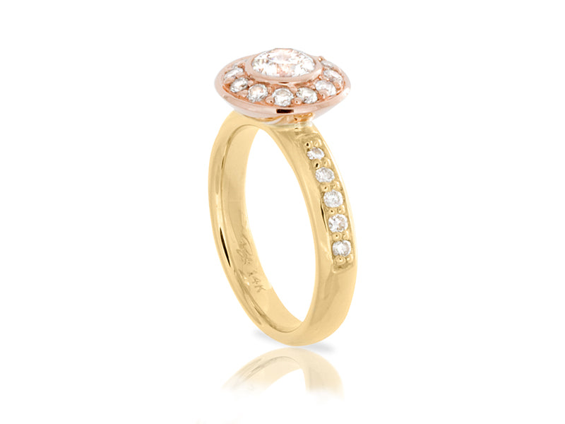 Pamela Lauz Jewellery - Dolci Yellow Diamond Halo Ring