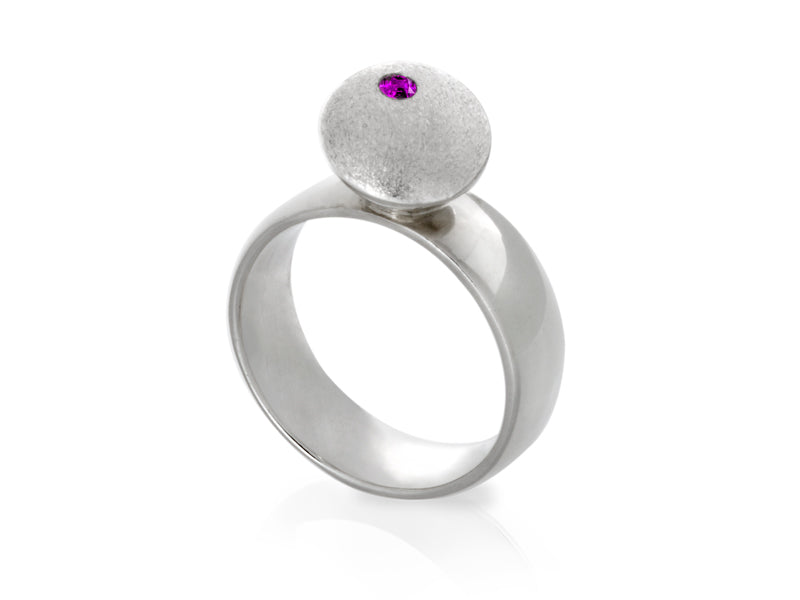 Pamela Lauz Jewellery - Dancing Dolci Large Silver Ring
