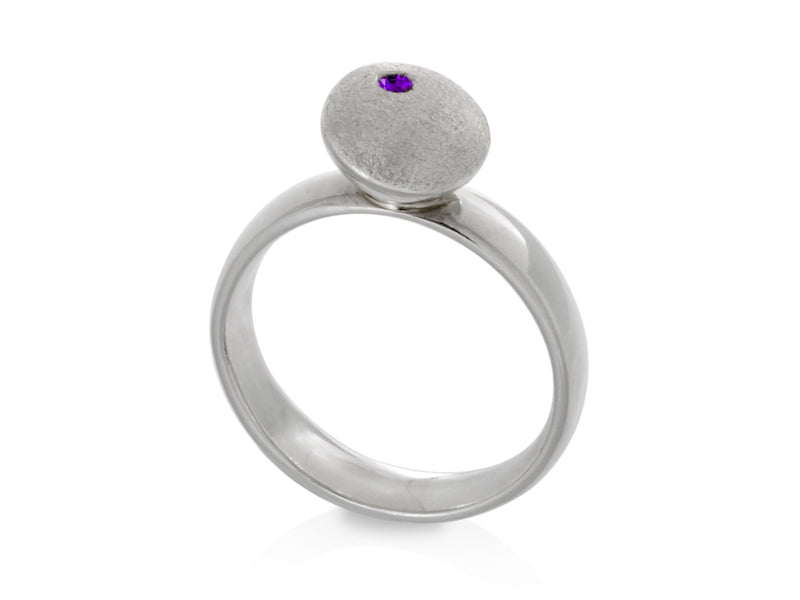 Pamela Lauz Jewellery - Dancing Dolci Medium Silver Ring